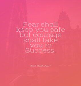 Fear shall keep you safe