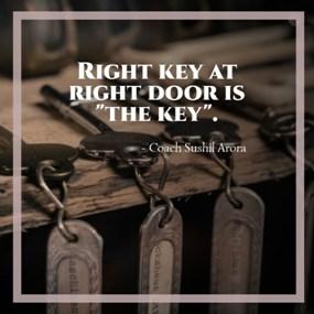 Right key at right door