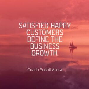 Satisfied happy customers