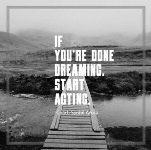 Start acting