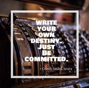 Write your own destiny